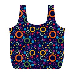 70s Pattern Full Print Recycle Bags (l)  by ValentinaDesign