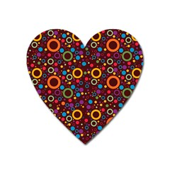 70s Pattern Heart Magnet