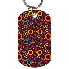 70s Pattern Dog Tag (two Sides) by ValentinaDesign
