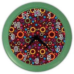 70s Pattern Color Wall Clocks by ValentinaDesign