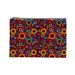 70s Pattern Cosmetic Bag (large)