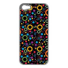 70s Pattern Apple Iphone 5 Case (silver) by ValentinaDesign