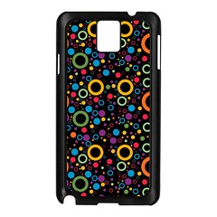 70s Pattern Samsung Galaxy Note 3 N9005 Case (black) by ValentinaDesign
