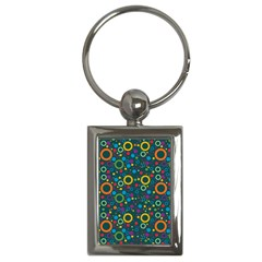 70s Pattern Key Chains (rectangle)  by ValentinaDesign