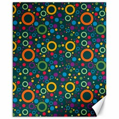 70s Pattern Canvas 16  X 20   by ValentinaDesign