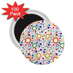 70s pattern 2.25  Magnets (100 pack)  Front