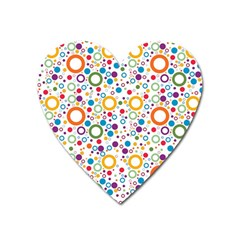 70s Pattern Heart Magnet by ValentinaDesign