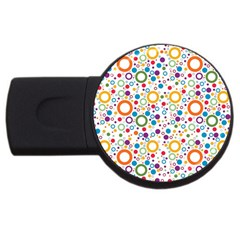 70s Pattern Usb Flash Drive Round (4 Gb) by ValentinaDesign