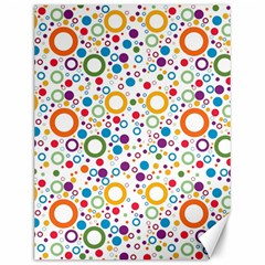 70s Pattern Canvas 12  X 16   by ValentinaDesign
