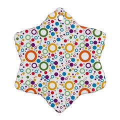 70s Pattern Ornament (snowflake) by ValentinaDesign