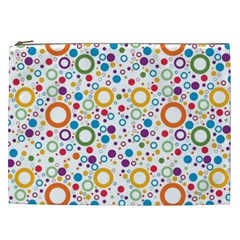 70s Pattern Cosmetic Bag (xxl)  by ValentinaDesign