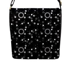 70s Pattern Flap Messenger Bag (l)  by ValentinaDesign