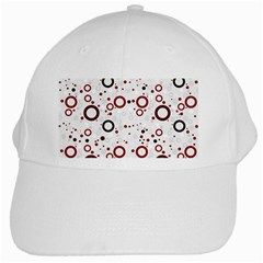 70s Pattern White Cap by ValentinaDesign