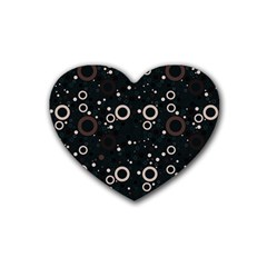 70s Pattern Heart Coaster (4 Pack)  by ValentinaDesign