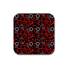 70s Pattern Rubber Coaster (square)  by ValentinaDesign
