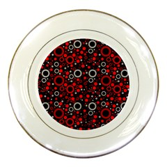 70s Pattern Porcelain Plates by ValentinaDesign