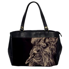 Angry Male Lion Office Handbags by Zhezhe
