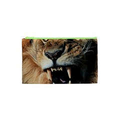 Male Lion Angry Cosmetic Bag (xs) by Zhezhe