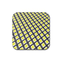 Wafer Size Figure Rubber Square Coaster (4 Pack)  by Mariart