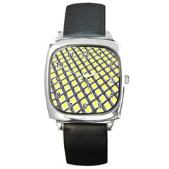 Wafer Size Figure Square Metal Watch by Mariart