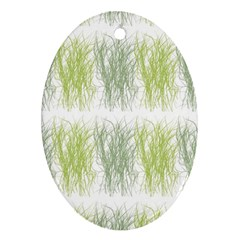 Weeds Grass Green Yellow Leaf Ornament (oval)