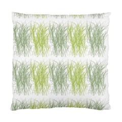 Weeds Grass Green Yellow Leaf Standard Cushion Case (two Sides) by Mariart