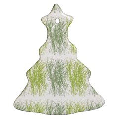 Weeds Grass Green Yellow Leaf Christmas Tree Ornament (two Sides) by Mariart