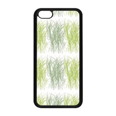 Weeds Grass Green Yellow Leaf Apple Iphone 5c Seamless Case (black) by Mariart