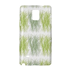 Weeds Grass Green Yellow Leaf Samsung Galaxy Note 4 Hardshell Case by Mariart