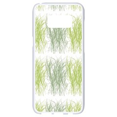 Weeds Grass Green Yellow Leaf Samsung Galaxy S8 White Seamless Case by Mariart