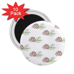 Pinecone Pattern 2 25  Magnets (10 Pack)  by Mariart