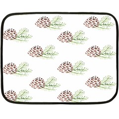 Pinecone Pattern Fleece Blanket (mini) by Mariart