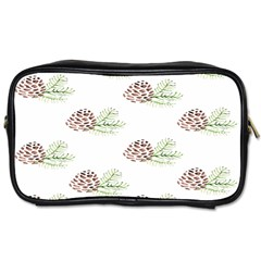 Pinecone Pattern Toiletries Bags 2 Side by Mariart