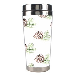 Pinecone Pattern Stainless Steel Travel Tumblers by Mariart