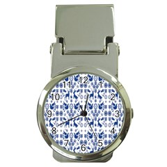 Rabbits Deer Birds Fish Flowers Floral Star Blue White Sexy Animals Money Clip Watches by Mariart
