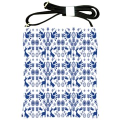 Rabbits Deer Birds Fish Flowers Floral Star Blue White Sexy Animals Shoulder Sling Bags by Mariart