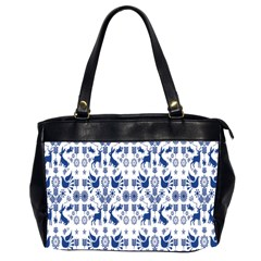 Rabbits Deer Birds Fish Flowers Floral Star Blue White Sexy Animals Office Handbags (2 Sides)  by Mariart