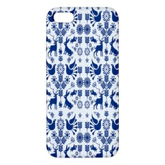 Rabbits Deer Birds Fish Flowers Floral Star Blue White Sexy Animals Iphone 5s/ Se Premium Hardshell Case by Mariart