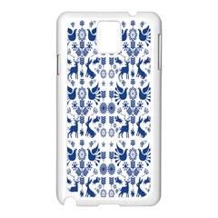 Rabbits Deer Birds Fish Flowers Floral Star Blue White Sexy Animals Samsung Galaxy Note 3 N9005 Case (white) by Mariart
