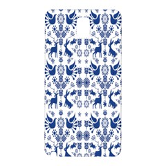 Rabbits Deer Birds Fish Flowers Floral Star Blue White Sexy Animals Samsung Galaxy Note 3 N9005 Hardshell Back Case by Mariart