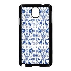 Rabbits Deer Birds Fish Flowers Floral Star Blue White Sexy Animals Samsung Galaxy Note 3 Neo Hardshell Case (black) by Mariart