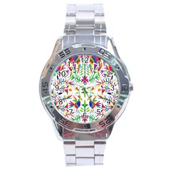 Peacock Rainbow Animals Bird Beauty Sexy Stainless Steel Analogue Watch by Mariart