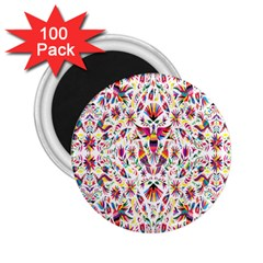 Peacock Rainbow Animals Bird Beauty Sexy Flower Floral Sunflower Star 2 25  Magnets (100 Pack)  by Mariart