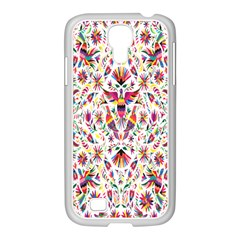 Peacock Rainbow Animals Bird Beauty Sexy Flower Floral Sunflower Star Samsung Galaxy S4 I9500/ I9505 Case (white) by Mariart
