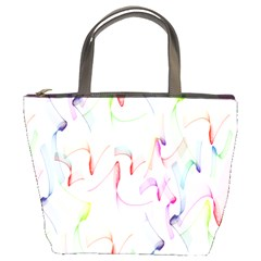 Rainbow Green Purple Pink Red Blue Pattern Zommed Bucket Bags by Mariart