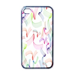 Rainbow Green Purple Pink Red Blue Pattern Zommed Apple Iphone 4 Case (black) by Mariart