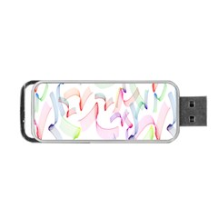 Rainbow Green Purple Pink Red Blue Pattern Zommed Portable Usb Flash (two Sides) by Mariart