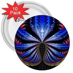 Illustration Robot Wave 3  Buttons (10 Pack)  by Mariart