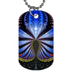 Illustration Robot Wave Dog Tag (one Side) by Mariart
