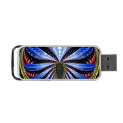 Illustration Robot Wave Portable Usb Flash (one Side) by Mariart
